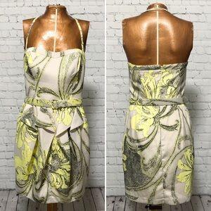 Jessica Simpson Floral Print Halter Dress EUC
